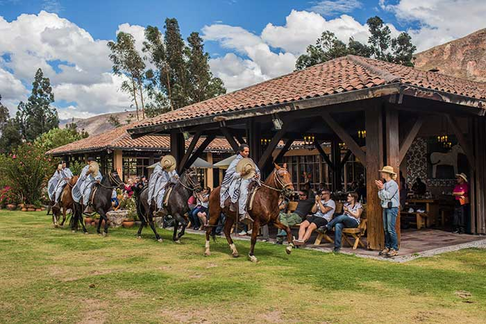 Andean BBQ with Peruvian Paso Horse show at Sol y Luna Hotel in the Sacred Valley