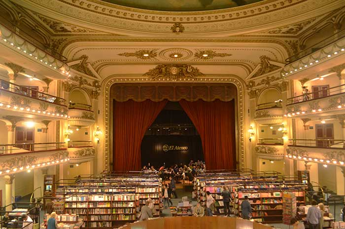 72 Hours in Buenos Aires - Main hall of El Ateneo library